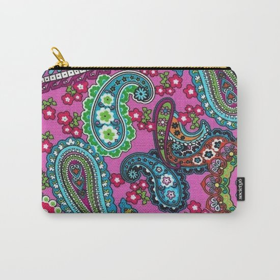 Floral Paisley Pattern 03 Carry-All Pouch