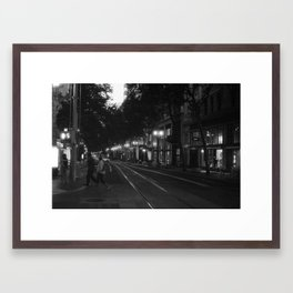 Getting to the Train Stop Framed Art Print