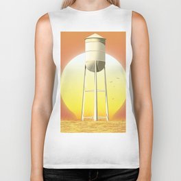 Old watertower Biker Tank