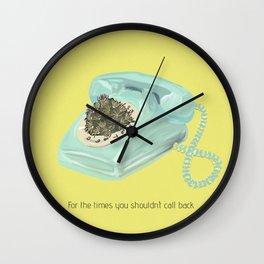 Vintage phone & cactus  Wall Clock