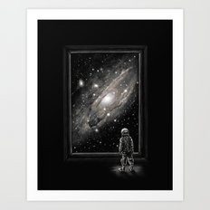 Looking Through a Masterpiece Art Print