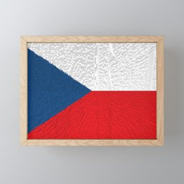 Extruded flag of the Czech Republic Framed Mini Art Print