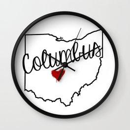 Heart Columbus Wall Clock