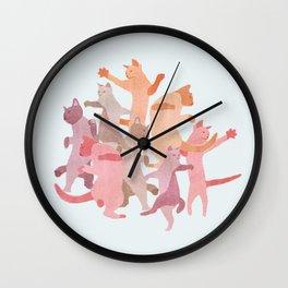Cat Explosion Wall Clock