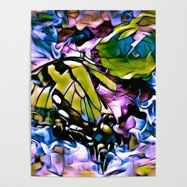 The Swallowtail Butterfly In Abstract Poster