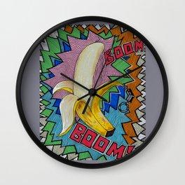 Banana Boom Boom! Wall Clock