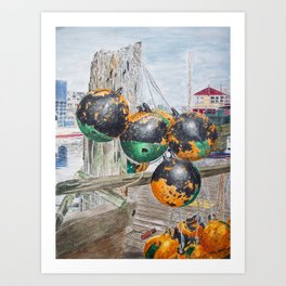 Boat Bumpers Art Print