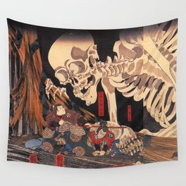 Takiyasha the Witch and the Skeleton Spectre, by Utagawa Kuniyoshi Wall Tapestry