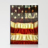 flag Stationery Cards featuring Flag by dvitt1027