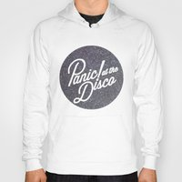 panic at the disco Hoodies featuring Panic! at the disco round glitter by Van de nacht