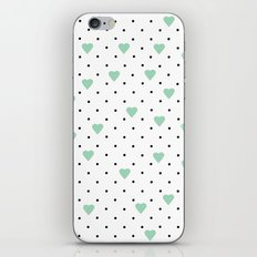 Pin Point Hearts Mint iPhone & iPod Skin