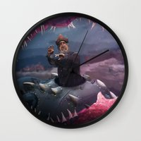 nemo Wall Clocks featuring Captain Nemo by Josmen9016