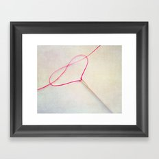 heart V Framed Art Print