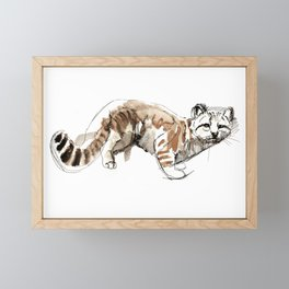 Totem Andean cat (AGA) Framed Mini Art Print