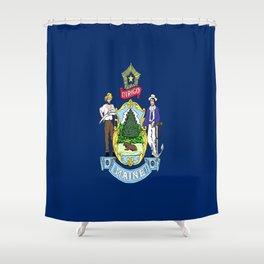flag maine,america,usa,pine tree,vacationland, mainer,new england,portland,brunswick,lewiston Shower Curtain