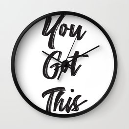 Never Doubt Yourself Wall Clock
