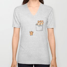 Cute Pocket Hamsters Unisex V-Neck