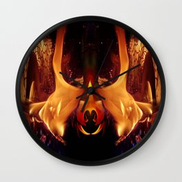 Invitation from a Flame Wall Clock
