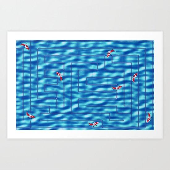 Fish in a maze Art Print