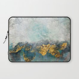 Lapis - Contemporary Abstract Textured Floral Laptop Sleeve