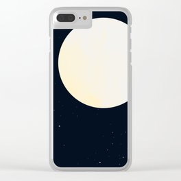 Bright Moon Clear iPhone Case