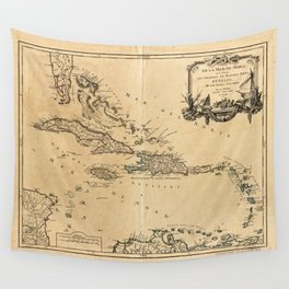 Map of the West Indies (1758) Wall Tapestry