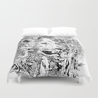 into the wild Duvet Covers featuring Wild by AnggaAgustiya