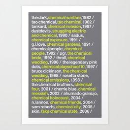 """CHEMICAL"" - Blank Poster Art Print"