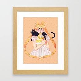 Usagi & Luna Framed Art Print