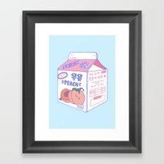 Peach Milk Framed Art Print