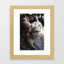 dead cow body Framed Art Print