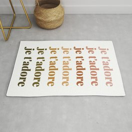 je t'adore in earthy colors Rug