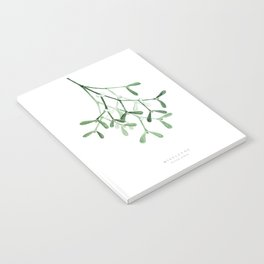 Watercolor mistletoe illustration Notebook