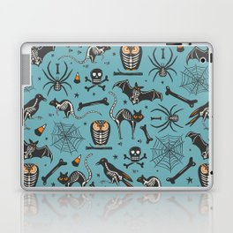 Halloween X-Ray Blue Laptop & iPad Skin
