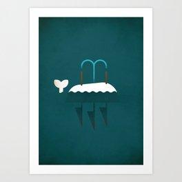 Moby Dick - NO TEXT Art Print