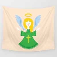 angel Wall Tapestries featuring Angel by Wharton
