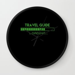 Travel Guide Loading Wall Clock