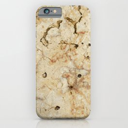 Marble Yellow Brown Pattern iPhone Case