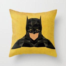 Antique B A T M A N Throw Pillow