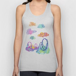 We'll see you in style, riding rainbow roller-coasters in the sky. Unisex Tank Top