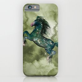 Awesome fantasy horse in the sky iPhone Case