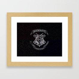 Cosmic Hogwarts Crest HP Framed Art Print