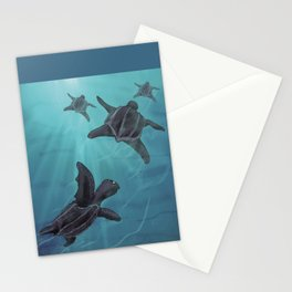 Leather-back Sea Turtle Stationery Cards