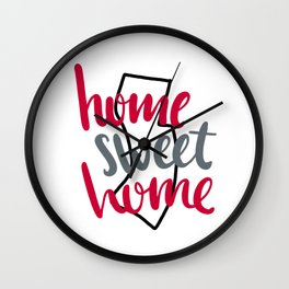 Home Sweet Home New Jersey Wall Clock