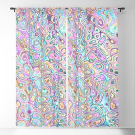 Pastel Blobs Blackout Curtain