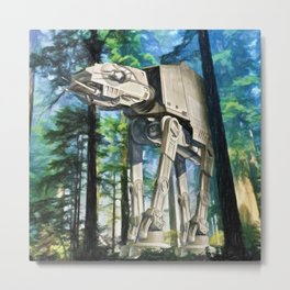 AT-AT Walker on Endor Metal Print