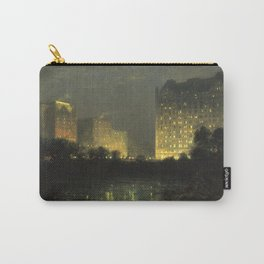 Vintage Night Painting of The Plaza NYC Carry-All Pouch