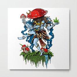 Magic Mushroom Lord Shiva Psychedelic Metal Print