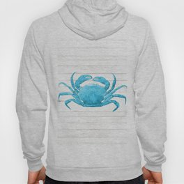 Nautical Blue Crab Driftwood Dock Hoody