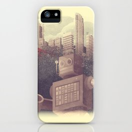 A City Snow-Bot iPhone Case